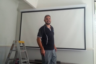 Projector screen install